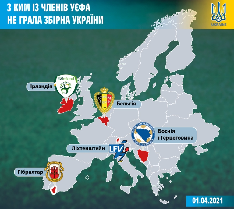Geography for the national team of Ukraine: there are still five potential rivals in Europe